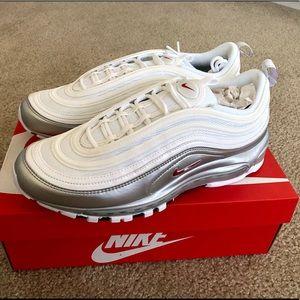 """White Nike Air Max 97 QS """"Metallic Pack"""" NEW"""